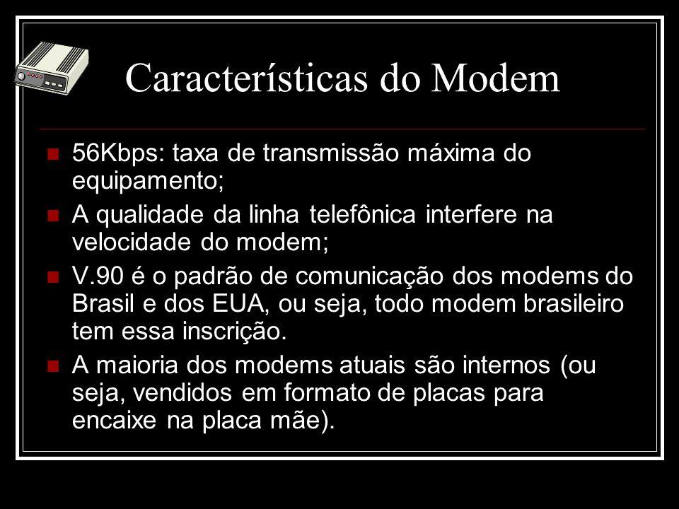 Características do Modem