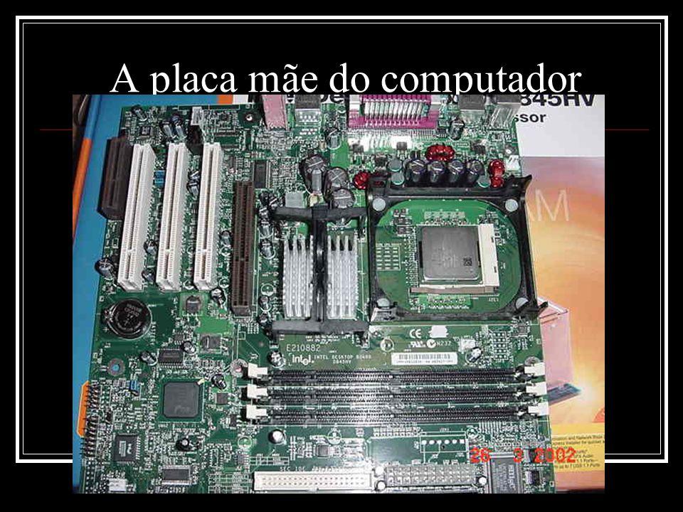 A placa mãe do computador