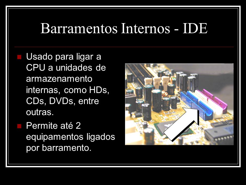 Barramentos Internos - IDE