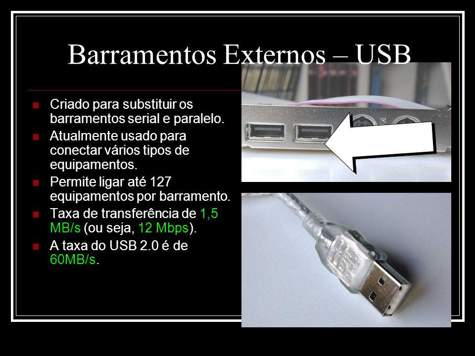 Barramentos Externos – USB
