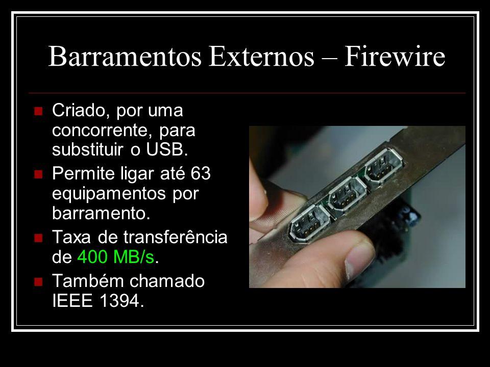 Barramentos Externos – Firewire
