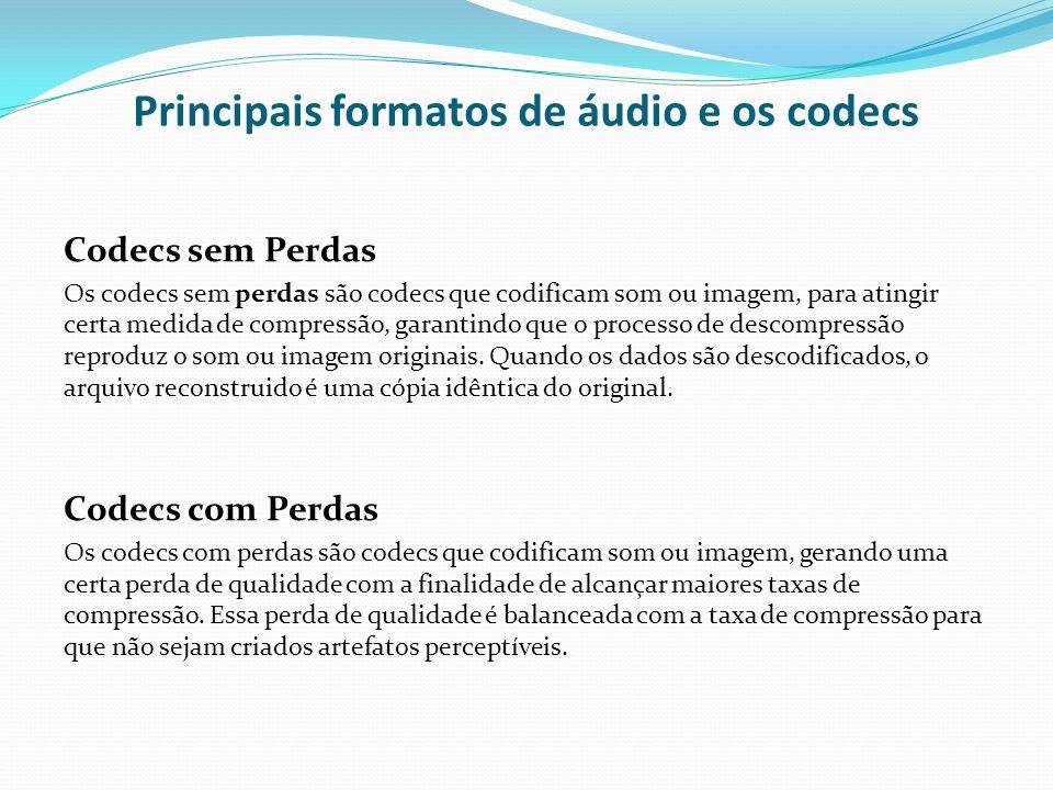 Principais formatos de áudio e os codecs