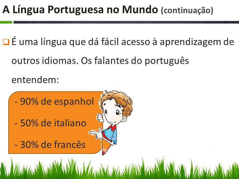 A Língua Portuguesa no Mundo (continuação)