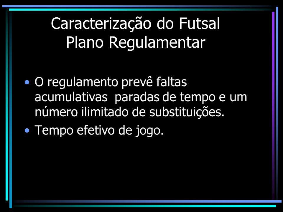 Caracterização do Futsal Plano Regulamentar