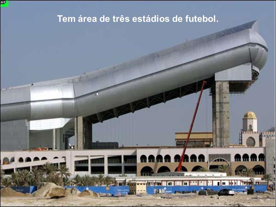 Tem área de três estádios de futebol.