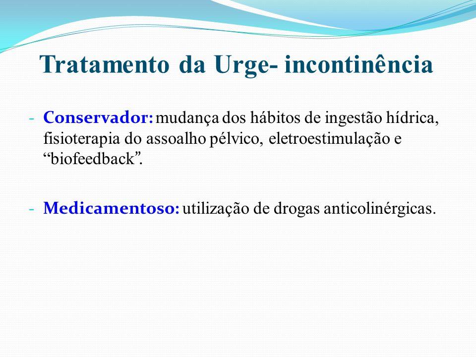 Tratamento da Urge- incontinência