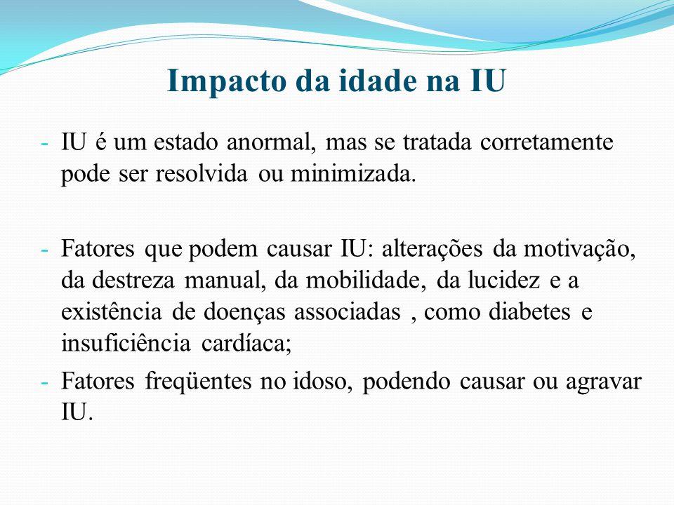 Impacto da idade na IU IU é um estado anormal, mas se tratada corretamente pode ser resolvida ou minimizada.