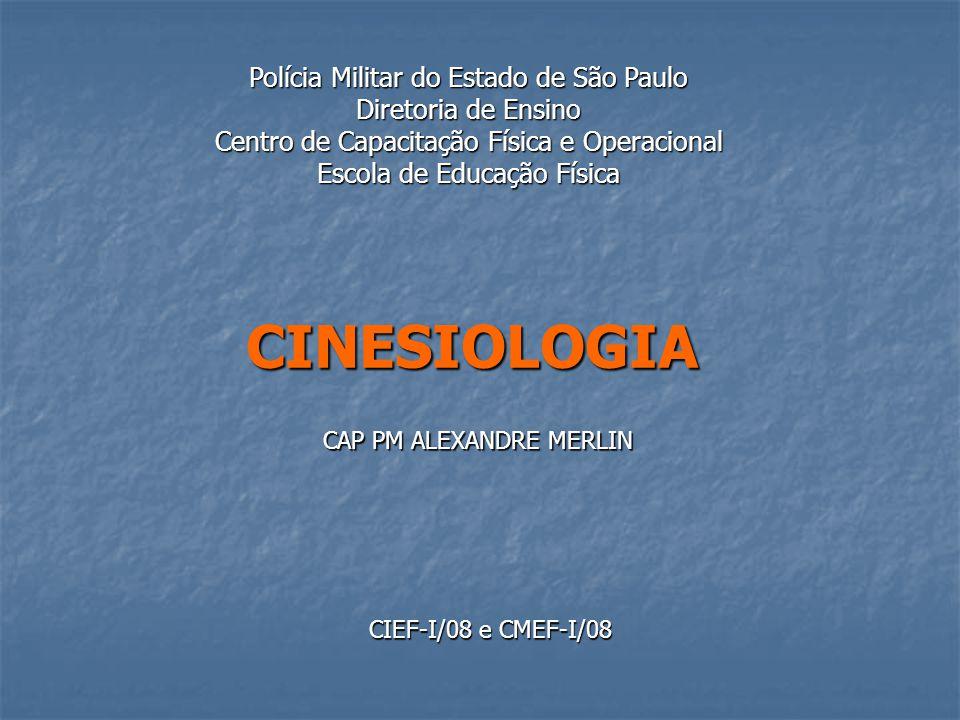 CINESIOLOGIA Polícia Militar do Estado de São Paulo