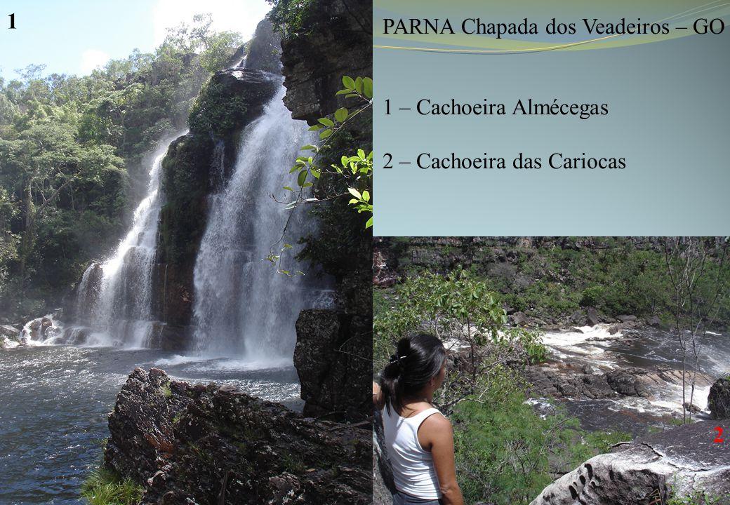 1 PARNA Chapada dos Veadeiros – GO 1 – Cachoeira Almécegas 2 – Cachoeira das Cariocas 2