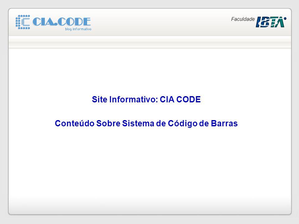 Site Informativo: CIA CODE Conteúdo Sobre Sistema de Código de Barras