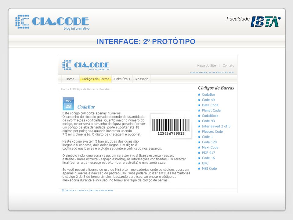 INTERFACE: 2º PROTÓTIPO