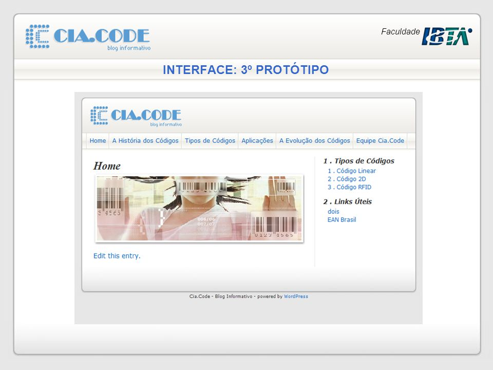 INTERFACE: 3º PROTÓTIPO