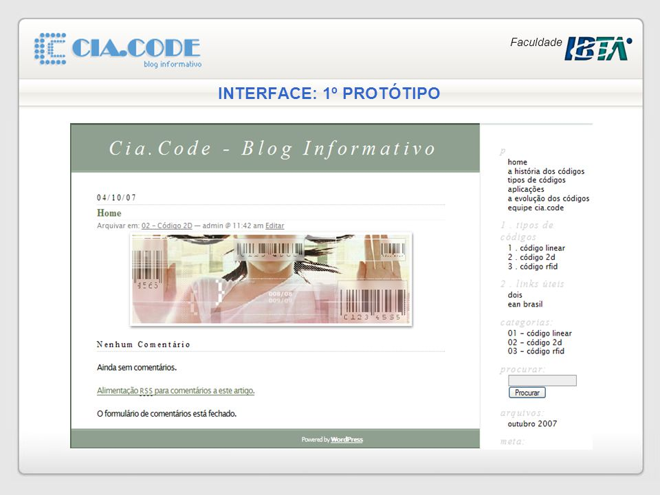 INTERFACE: 1º PROTÓTIPO