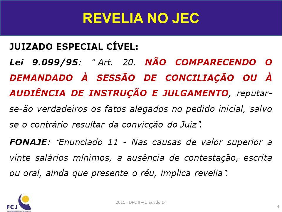 REVELIA NO JEC JUIZADO ESPECIAL CÍVEL: