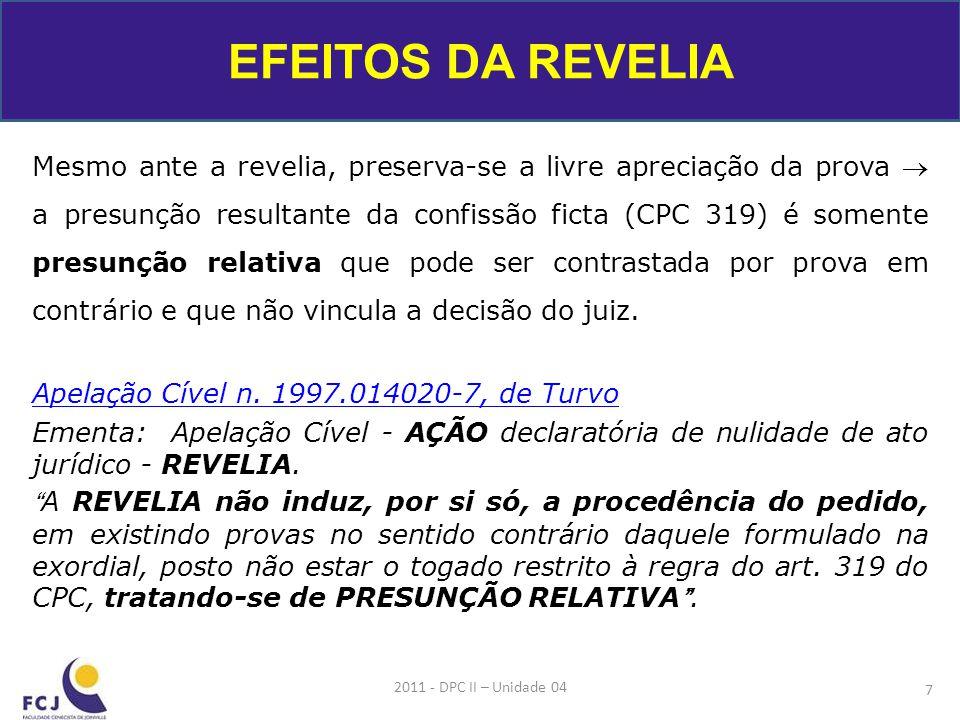 EFEITOS DA REVELIA