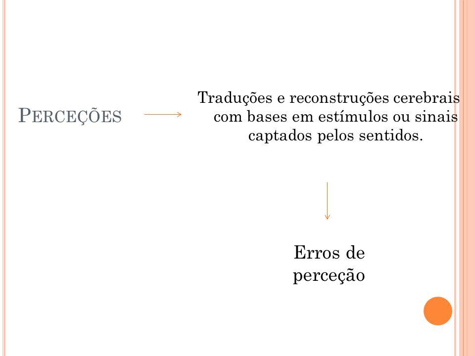Perceções Erros de perceção
