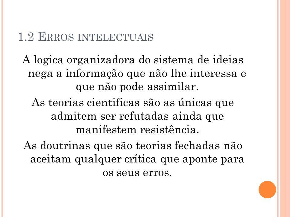 1.2 Erros intelectuais