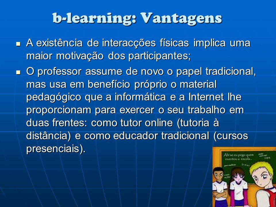 b-learning: Vantagens