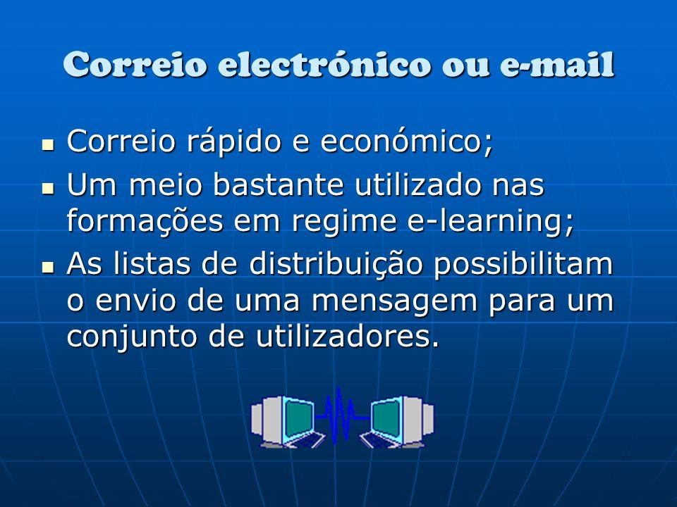 Correio electrónico ou e-mail