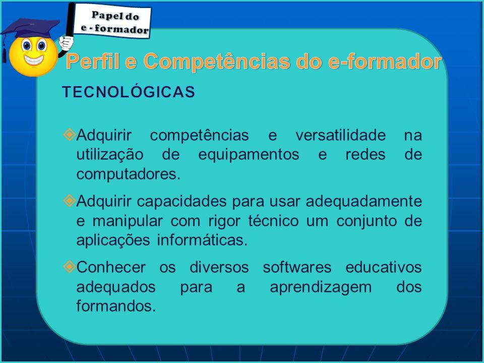 Perfil e Competências do e-formador