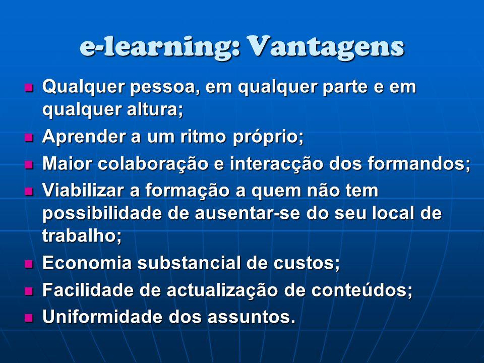 e-learning: Vantagens
