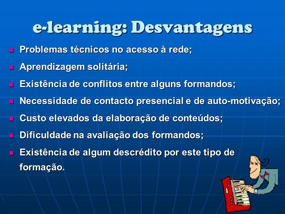 e-learning: Desvantagens