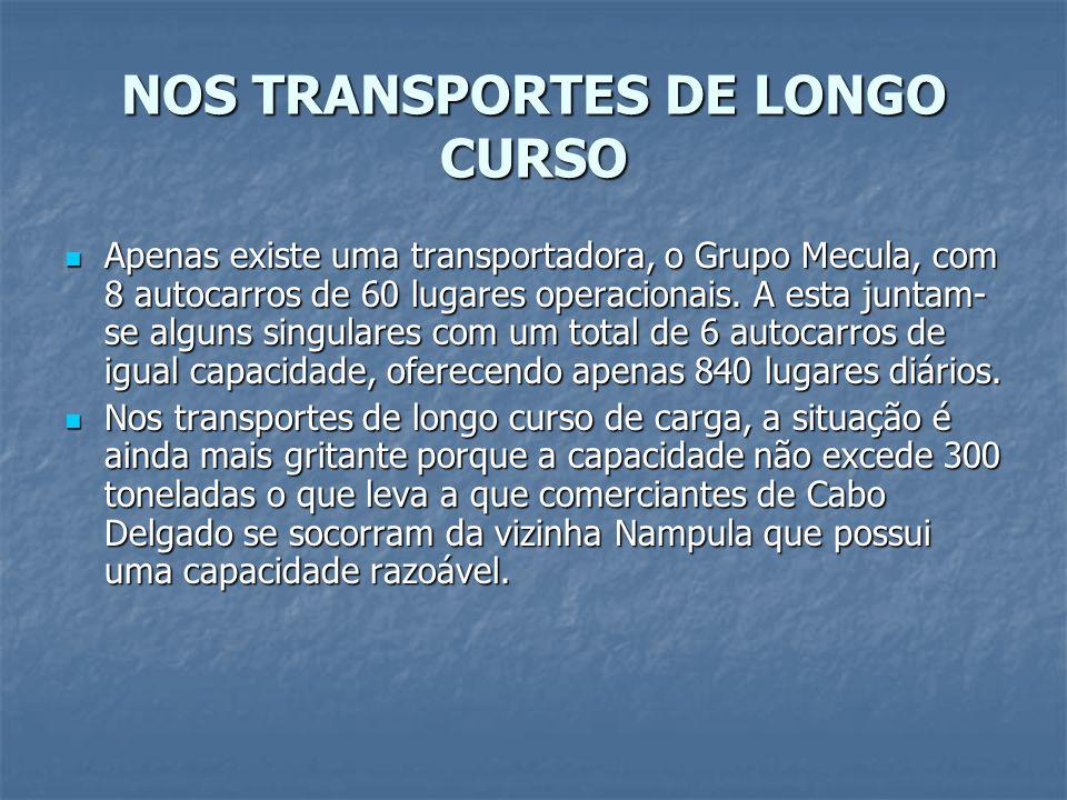 NOS TRANSPORTES DE LONGO CURSO