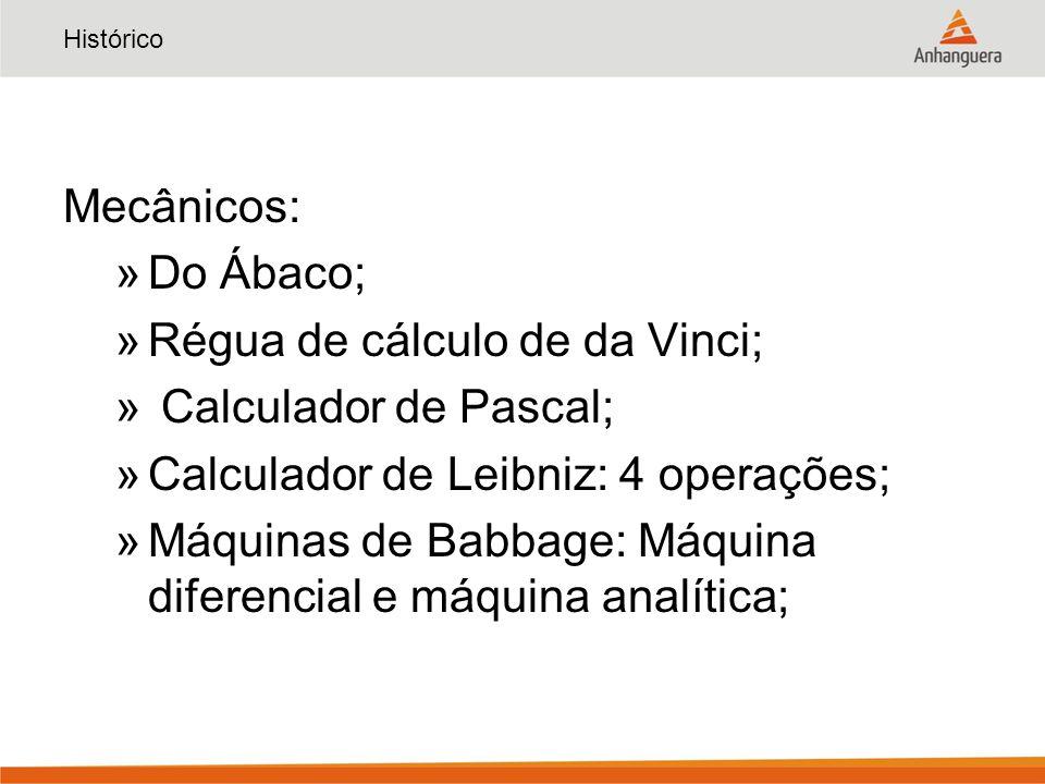 Régua de cálculo de da Vinci; Calculador de Pascal;