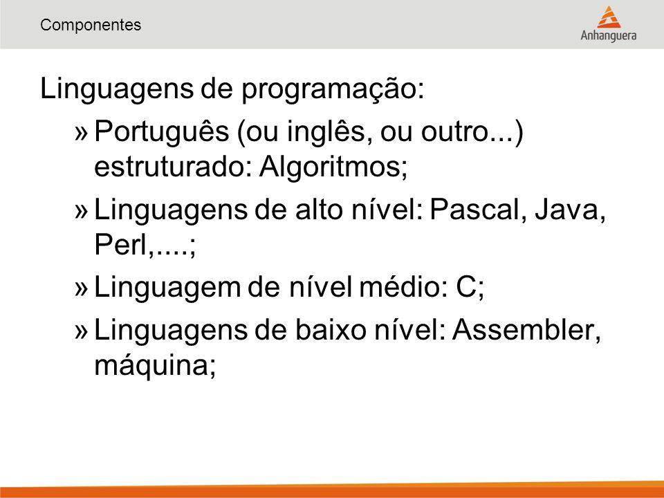 Linguagens de programação: