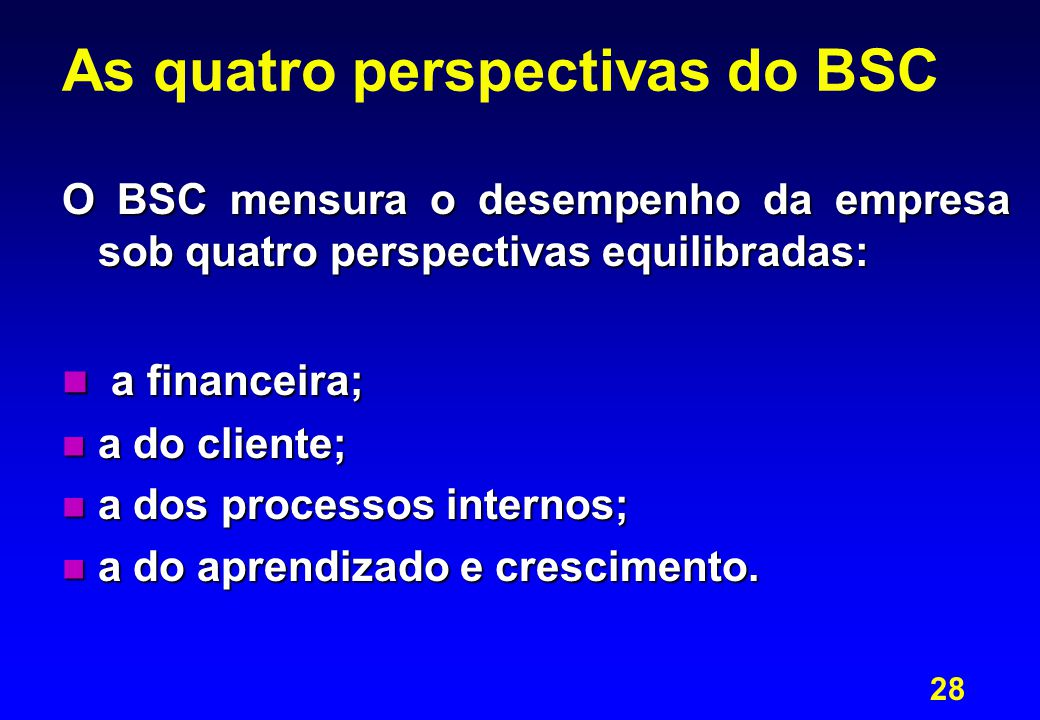 As quatro perspectivas do BSC