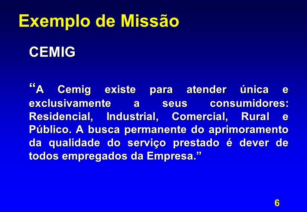 Exemplo de Missão CEMIG
