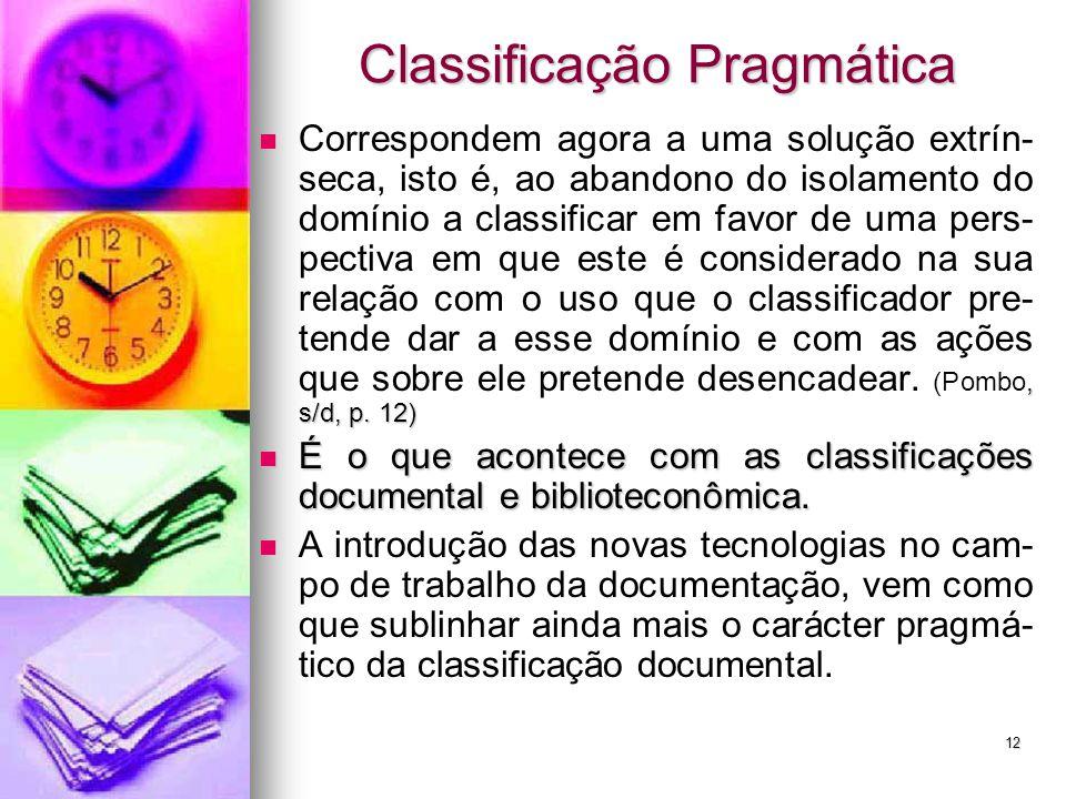 Classificação Pragmática