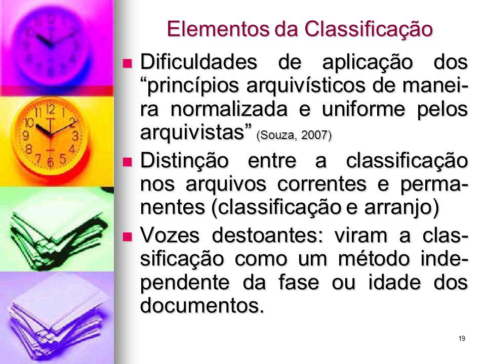 Elementos da Classificação