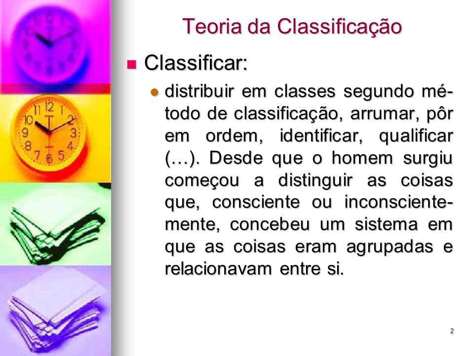 Teoria da Classificação