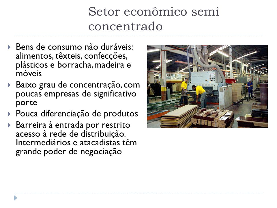Setor econômico semi concentrado