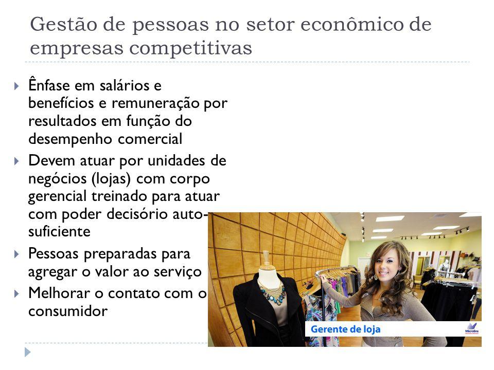Gestão de pessoas no setor econômico de empresas competitivas