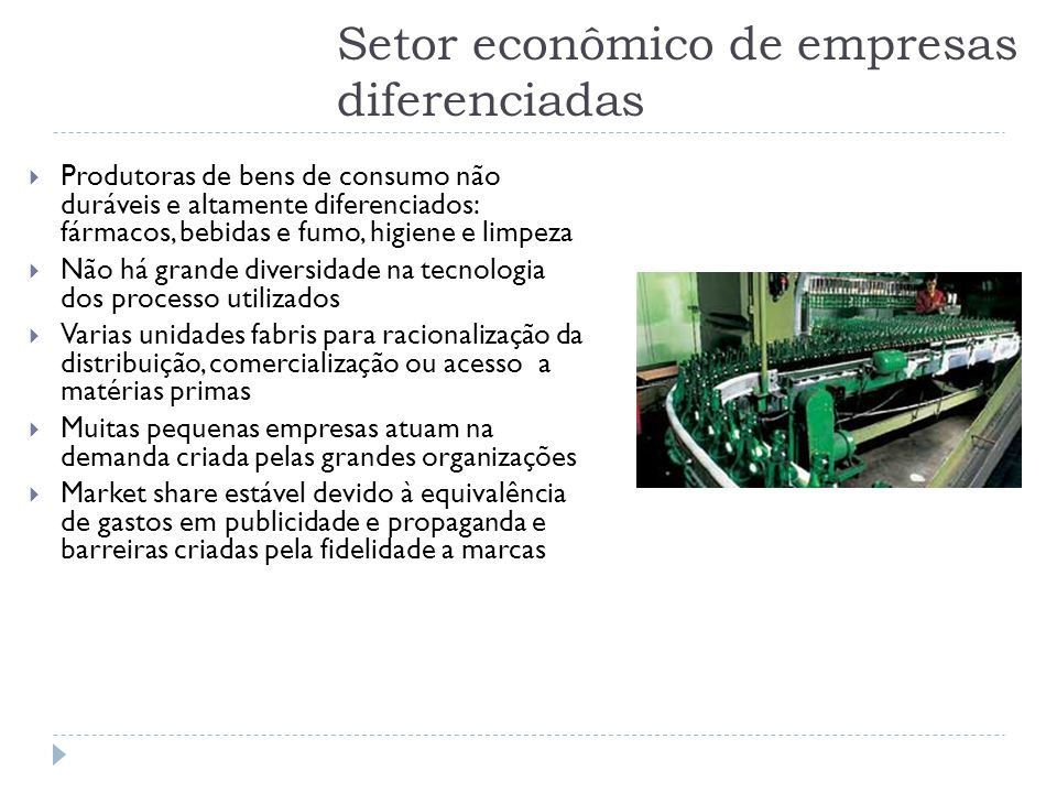 Setor econômico de empresas diferenciadas
