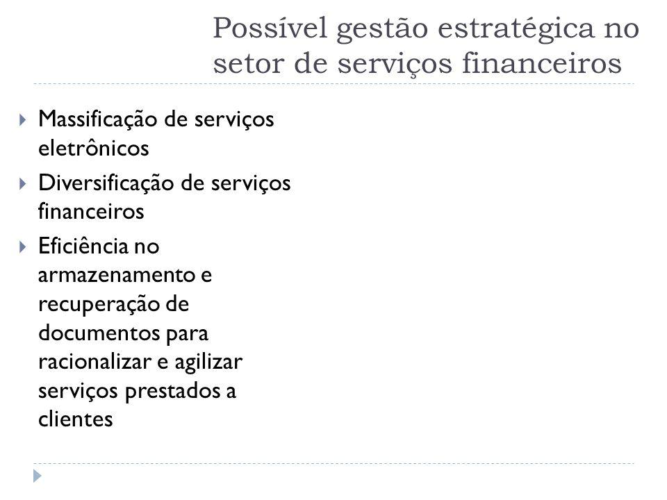 Possível gestão estratégica no setor de serviços financeiros