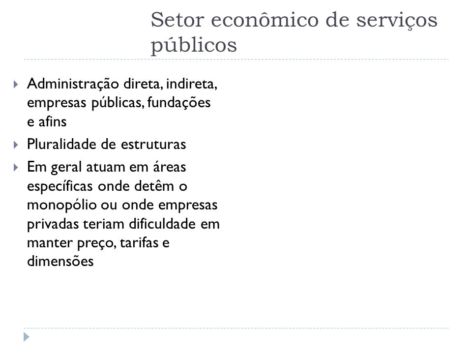 Setor econômico de serviços públicos