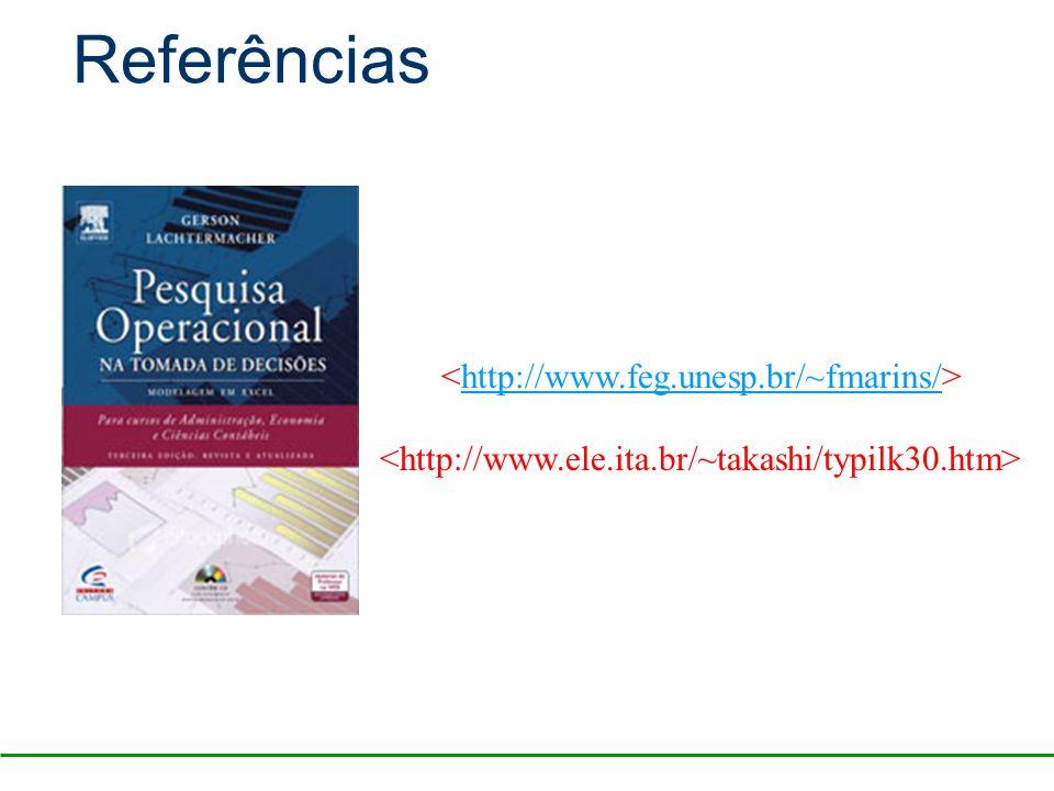 Referências <http://www.feg.unesp.br/~fmarins/>
