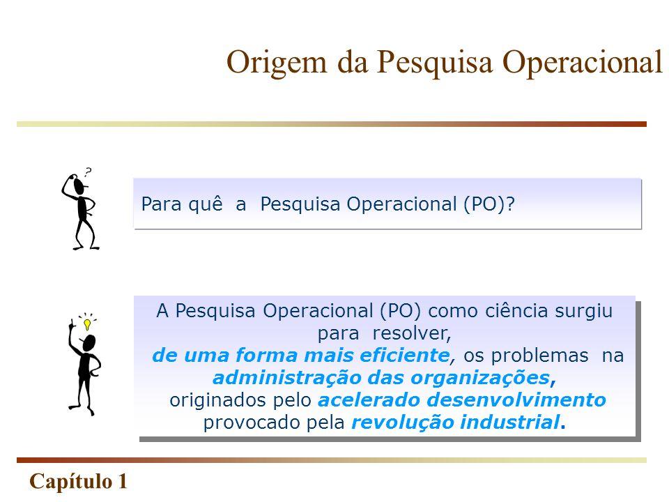 Origem da Pesquisa Operacional