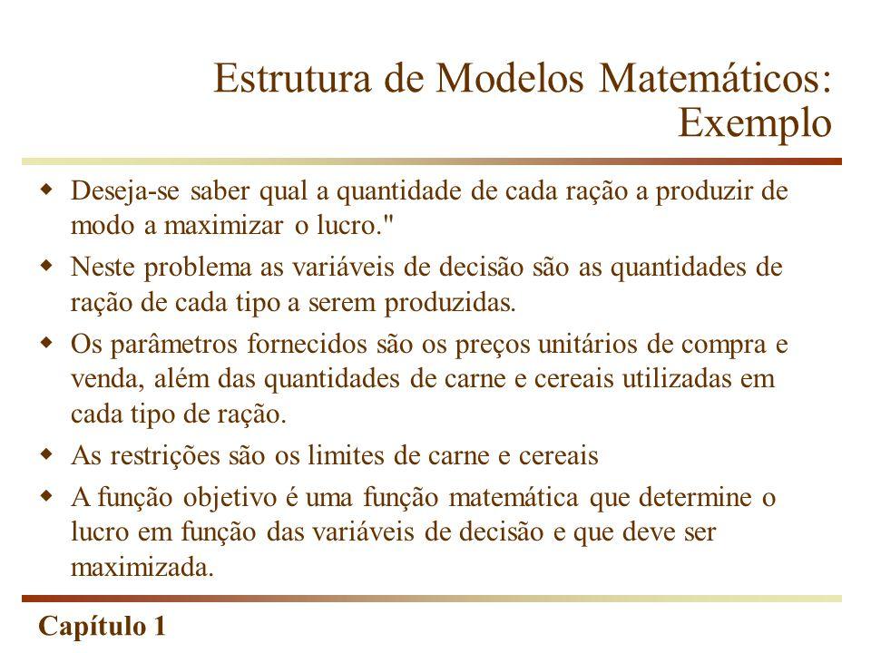 Estrutura de Modelos Matemáticos: Exemplo