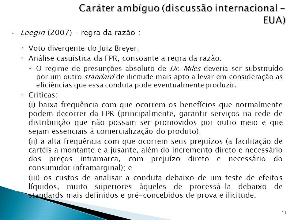 Caráter ambíguo (discussão internacional - EUA)