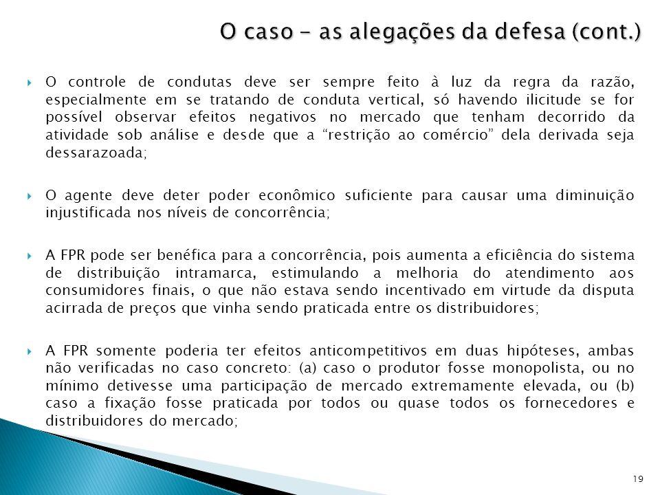 O caso - as alegações da defesa (cont.)