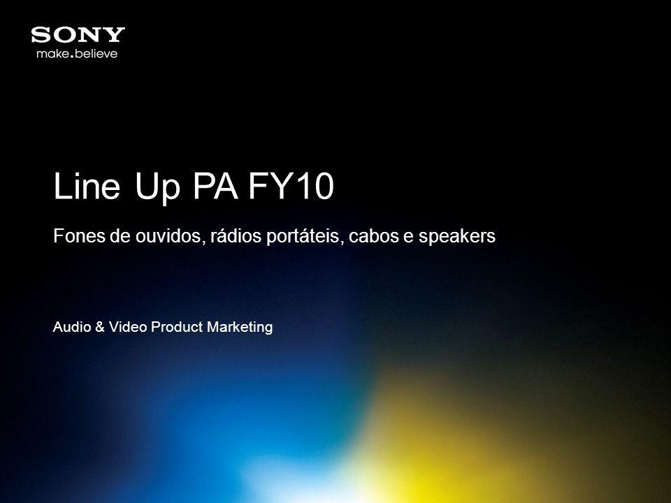 Line Up PA FY10 Fones de ouvidos, rádios portáteis, cabos e speakers