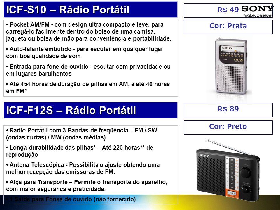 ICF-F12S – Rádio Portátil