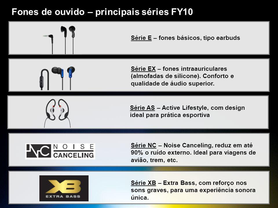 Fones de ouvido – principais séries FY10