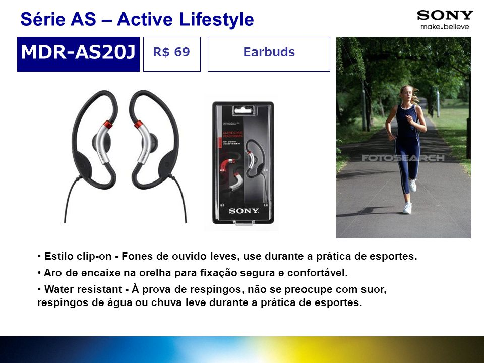 Série AS – Active Lifestyle