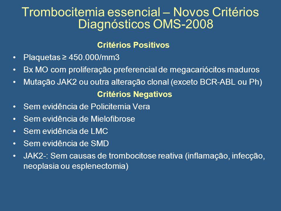 Trombocitemia essencial – Novos Critérios Diagnósticos OMS-2008