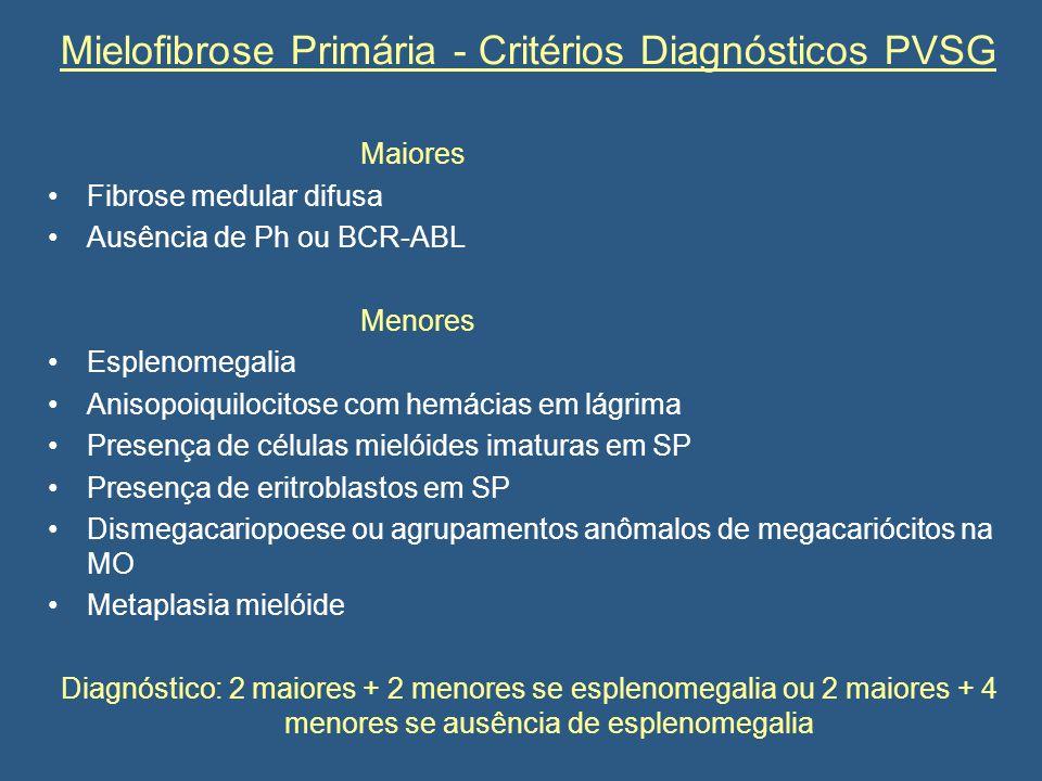Mielofibrose Primária - Critérios Diagnósticos PVSG